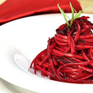 Linguini With Pan-roasted Beets, Fresh Tarragon And Caraway.