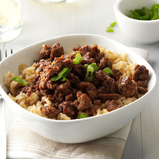 Korean Beef and Rice.