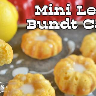 Mini Lemon Bundt Cakes.