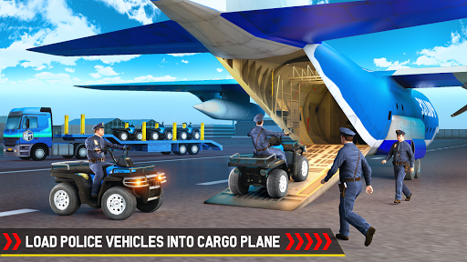 Cargo Airplane Police Vehicle Transporter 1.5 screenshots 1