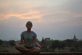 Photo: Meditation at sunset
