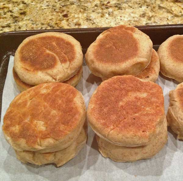 English Muffins with Bran Cereal Recipe