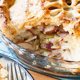 Potato Leek Pie with Gruyere andBacon