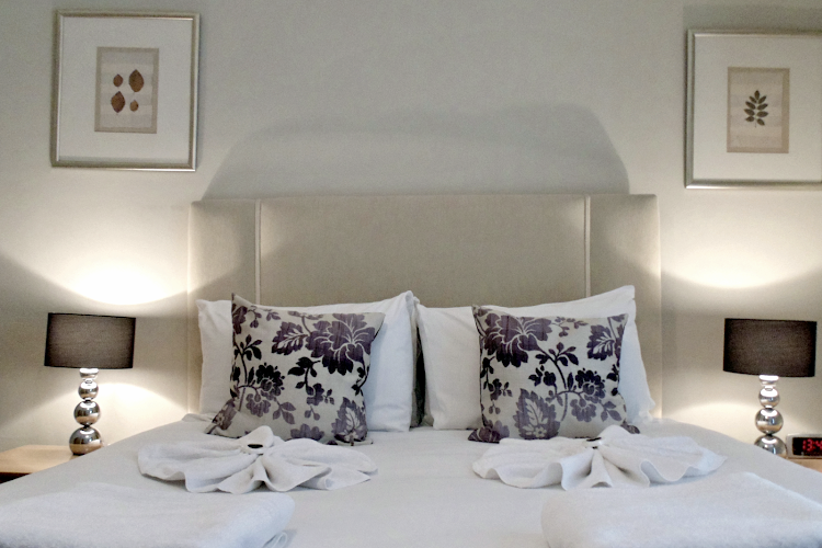 Luxury bedroom at Tower Hill Executive