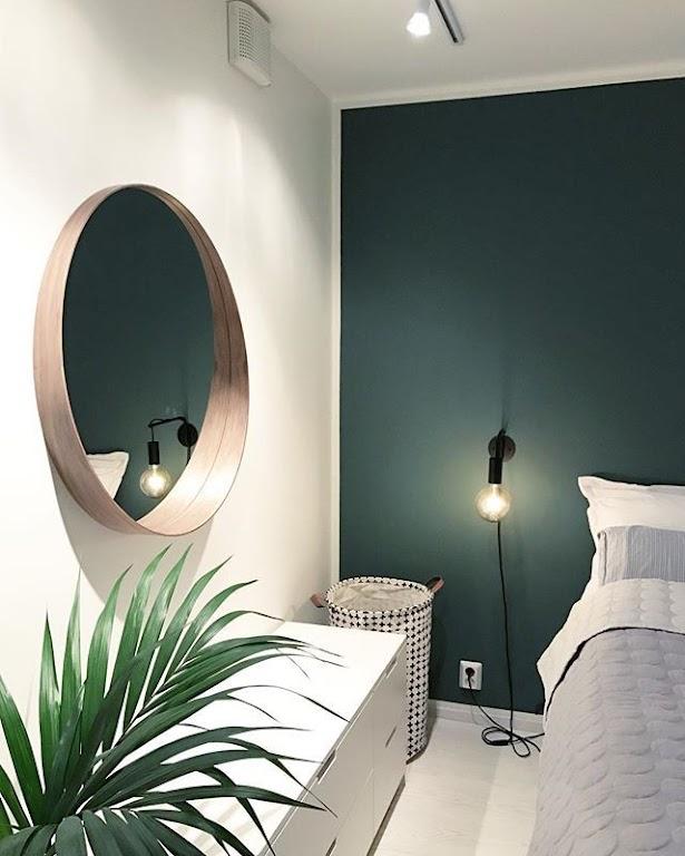 Modna zieleń w sypialni
