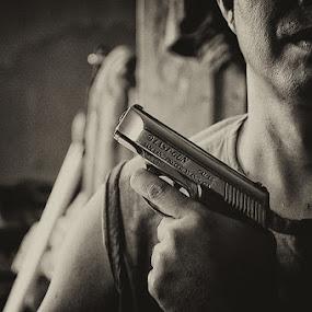 last gun by Benny De - People Body Parts