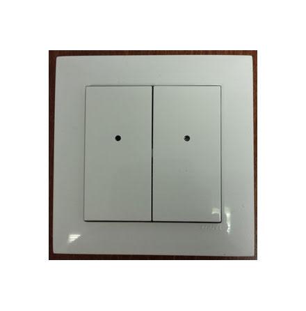 RFWB-40/G, 4-kanals trådlös brytare, för vägg, trä, glas mm.