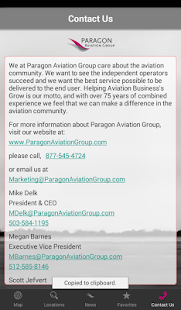 Paragon Aviation Group screenshot