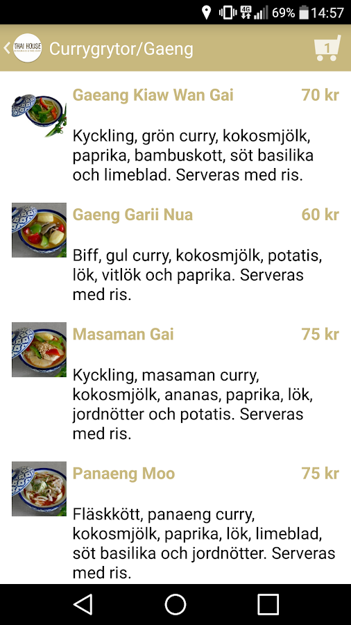 Thai House Växjö- screenshot
