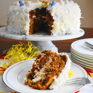 Coconut Carrot Easter Cake