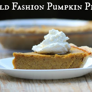 Old Fashion Pumpkin Pie
