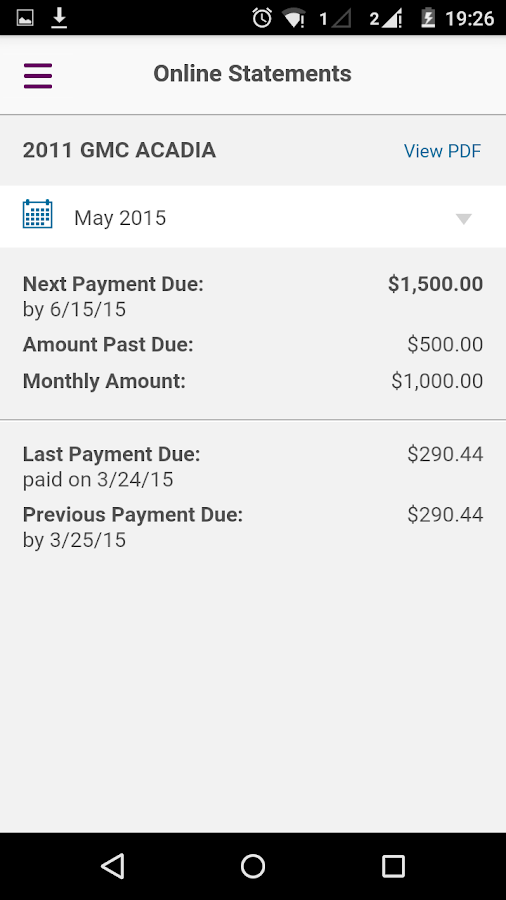 Ally Auto Mobile Pay - screenshot
