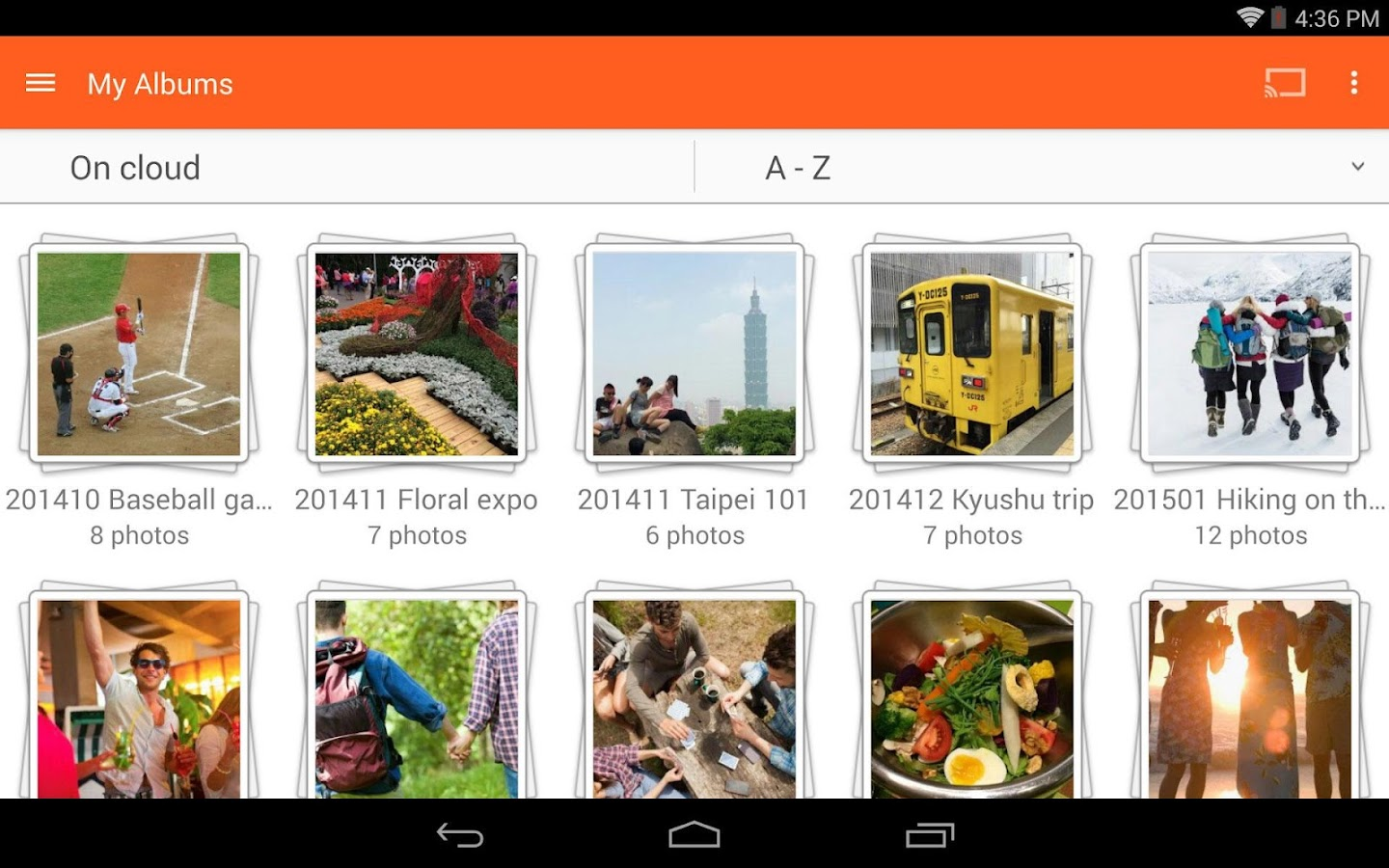 abPhoto (photo backup)- screenshot