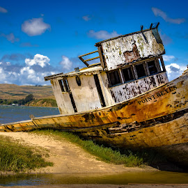 The Point Reyes by John Rourke - Transportation Boats ( water, ca, sky, shipwreck, california, the )
