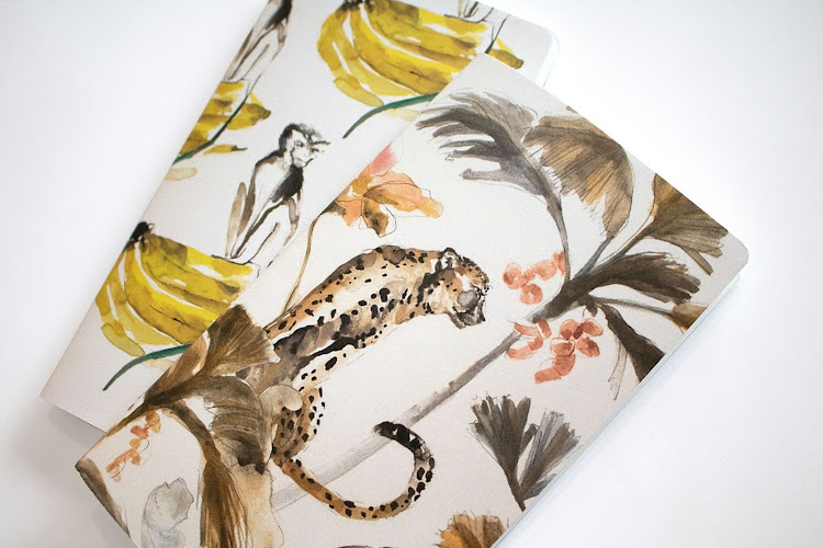 Notebooks by Wanderland Collective x Victoria Verbaan, R100 each or R185 for the pair.