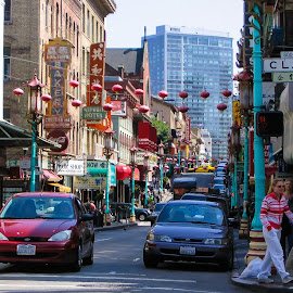 China Town SF by Ed Stines - City,  Street & Park  Historic Districts ( streets, city, chinatown, famous place, san francisco )