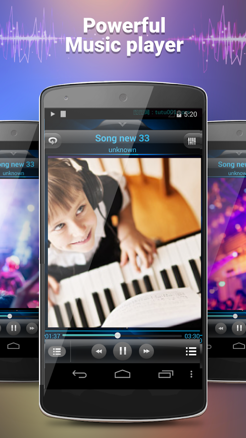 Screenshots of MP3 Player for iPhone