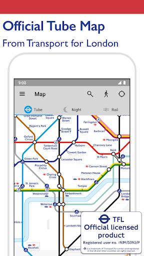 Tube Map - TfL London Underground route planner 5.9.4 screenshots 1