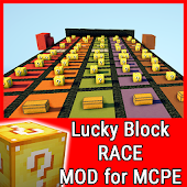 Lucky Block Race MOD for MCPE
