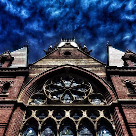 Haunted Church by Roman Fischer - Buildings & Architecture Places of Worship ( photooftheday, spooky, halloween, haunted, photographyoftheday, church, scary, architectural photography, stunning, photography, building )