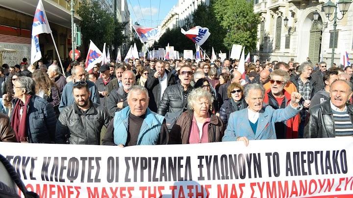Demonstrierende in Griechenland.