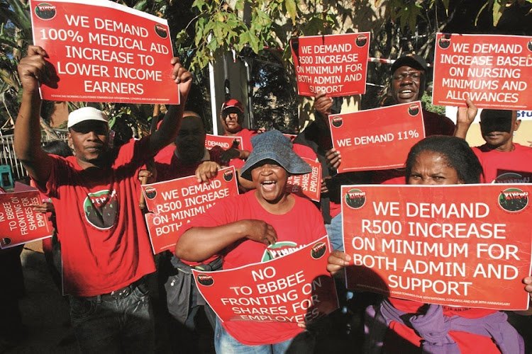 Nehawu protest. Picture: SUPPLIED