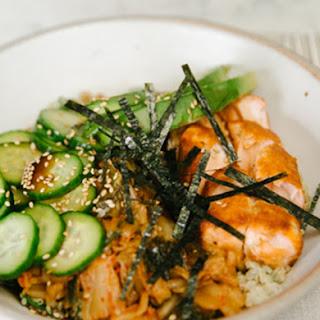 Pickles + Salmon Grain Bowl