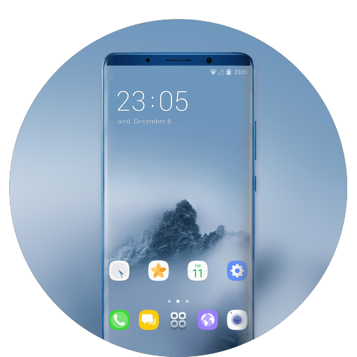Theme for Samsung galaxy a7 foggy mount wallpaper icon