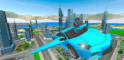 Top simple flying car simulator. A unique car driver game.