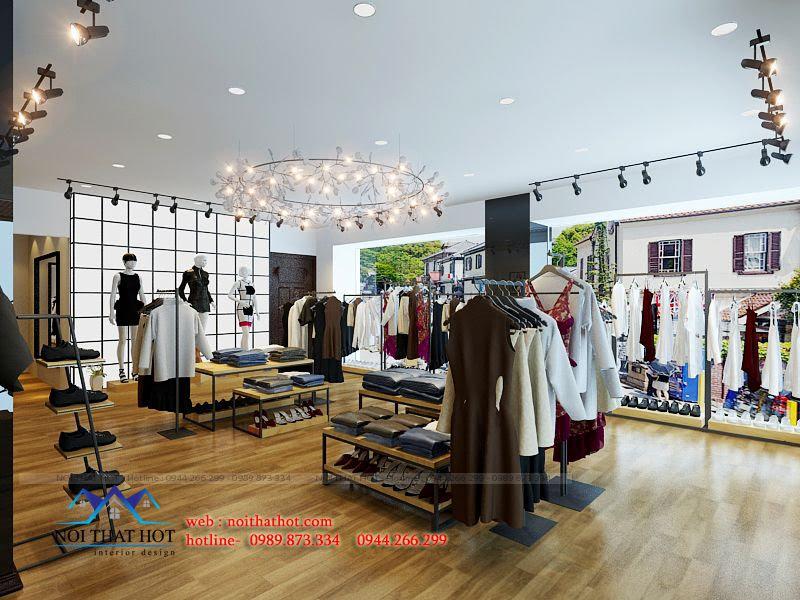 thiết kế shop thời trang lạ mắt