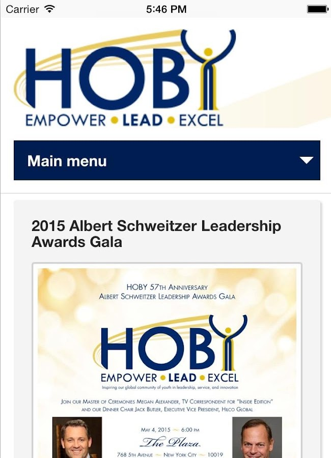 HOBY- screenshot