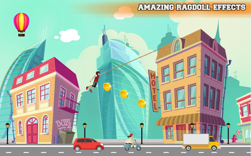 City bounce rope hero–Free offline adventure games screenshots 1