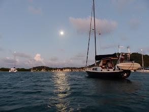 Photo: Full moon over Santa Isabel