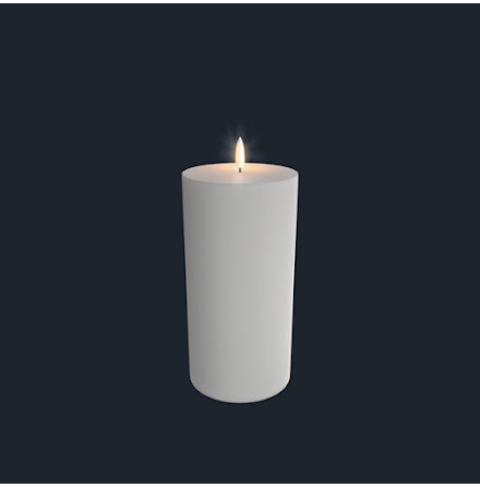 UYUNI Pelarljus LED - Vit - 10,1 x 23,1 CM