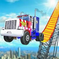 Extreme Euro Truck: Mega ramp stunts Racing