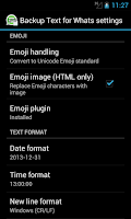 Screenshot of Backup Text for Whats