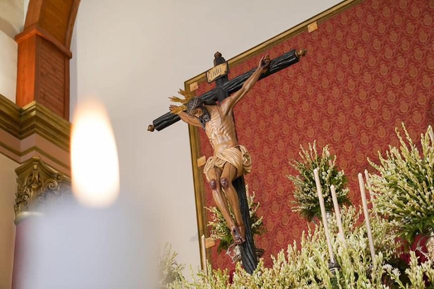 Este año no hubo bajada del Cristo de la Luz.