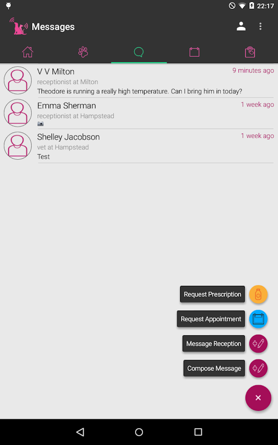 MyPetPortal- screenshot