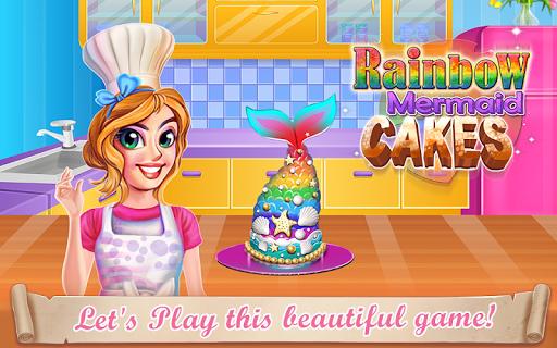 PC u7528 Rainbow Mermaid Cake 1