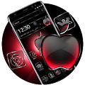 Black Red Apple Crystal Theme APK