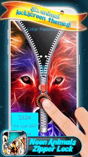 Neon Animals Zipper Lock - náhled