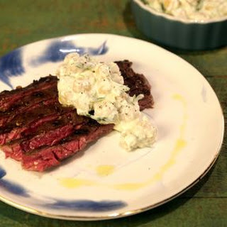 Grilled Skirt Steak with Chickpea Salad.