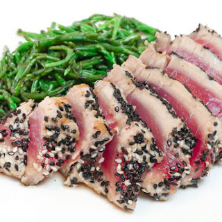 Sesame Seared Tuna with Samphire Recipe