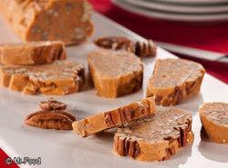 Butterscotch Yule Log Slices Recipe