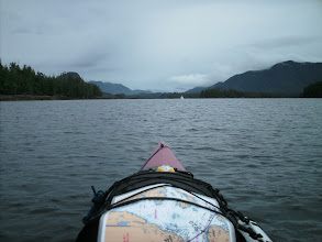 Photo: Heading up Reid Passage with Cecilia Island on the left.