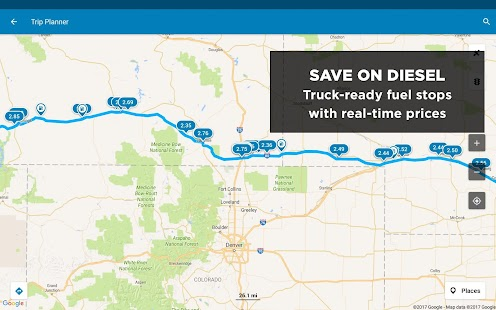 Trucker Path Truck Stops Weigh Stations Android Apps On - Map of truck stops in us
