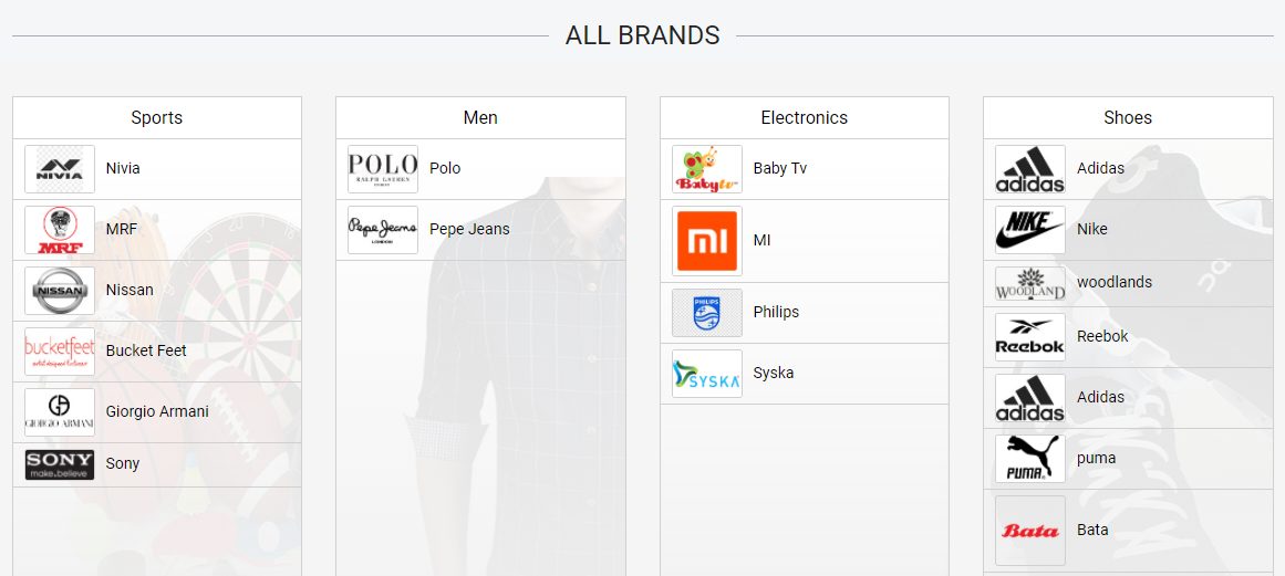 Readymade e-commerce website build-in 2 days - Find the product brand wise - Lia infraservices