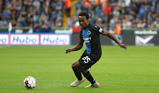 Percy Tau of Club Brugge in action during the UEFA Champions League third qualifying round first leg match between Club Brugge and Dynamo Kyiv on August 6, 2019 in Brugge, Belgium.