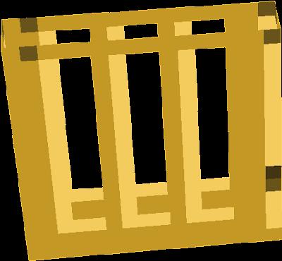 Golden acacia door
