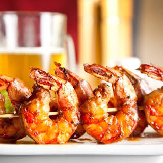 Skewered Spicy Grilled Shrimp.